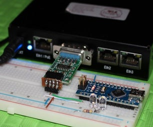 Using MikroTik Router Board 433 & Arduino to Control Two LEDs