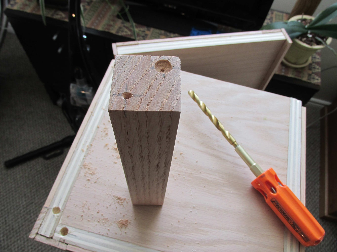 Drill and Glue Legs