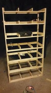 Cheap Garage/basement Storage Shelve From Coke Trays