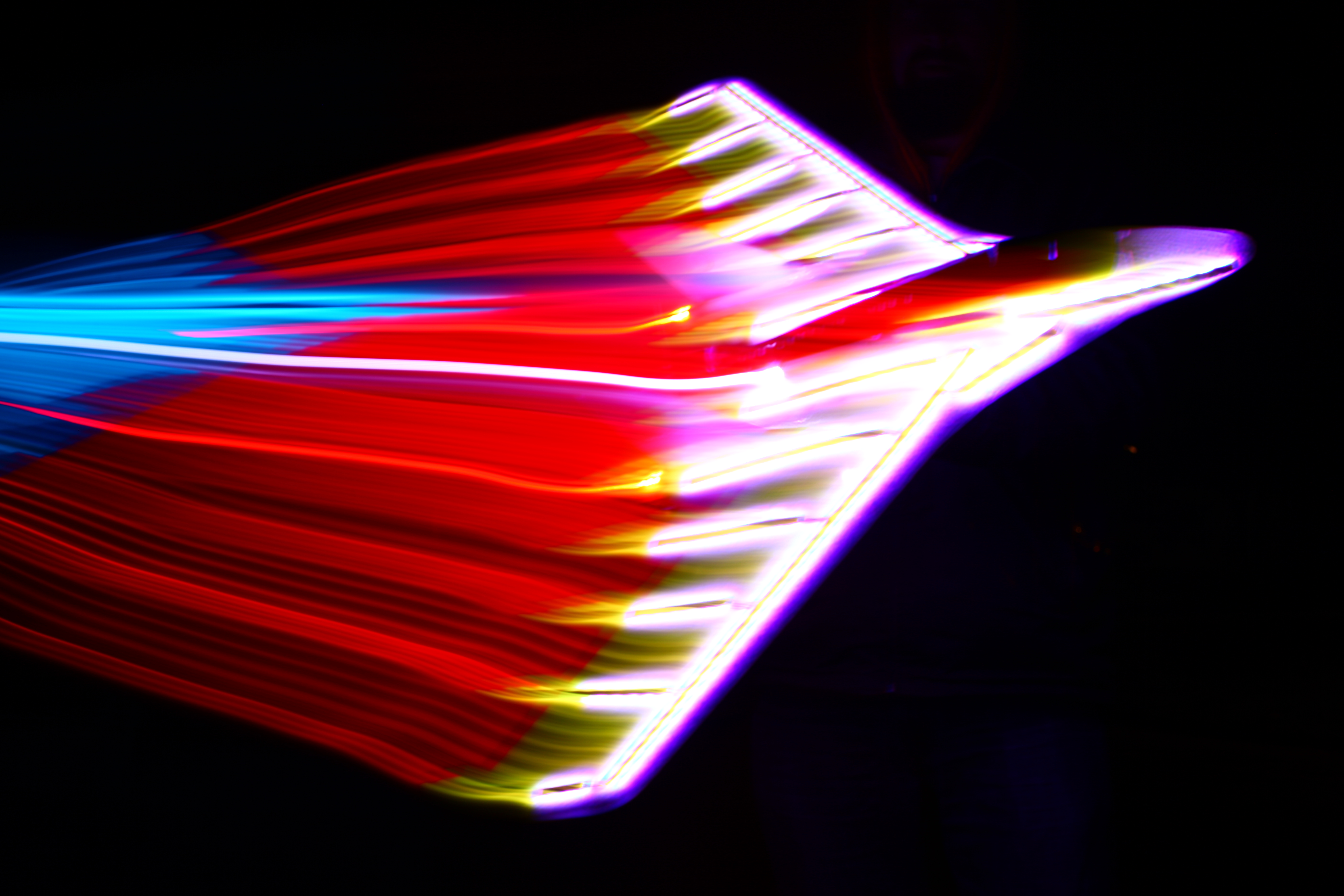 UFO project - Color Changing Glowing Radio Controlled Airplane - RGB LEDs are awesome!