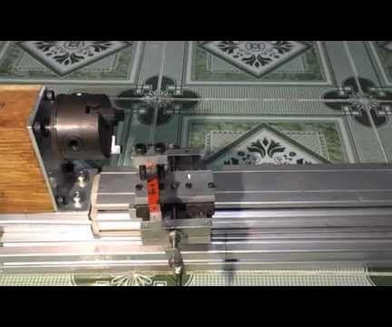 DIY Wood Mini Lathe with Slide Axis and Aluminium Alloy