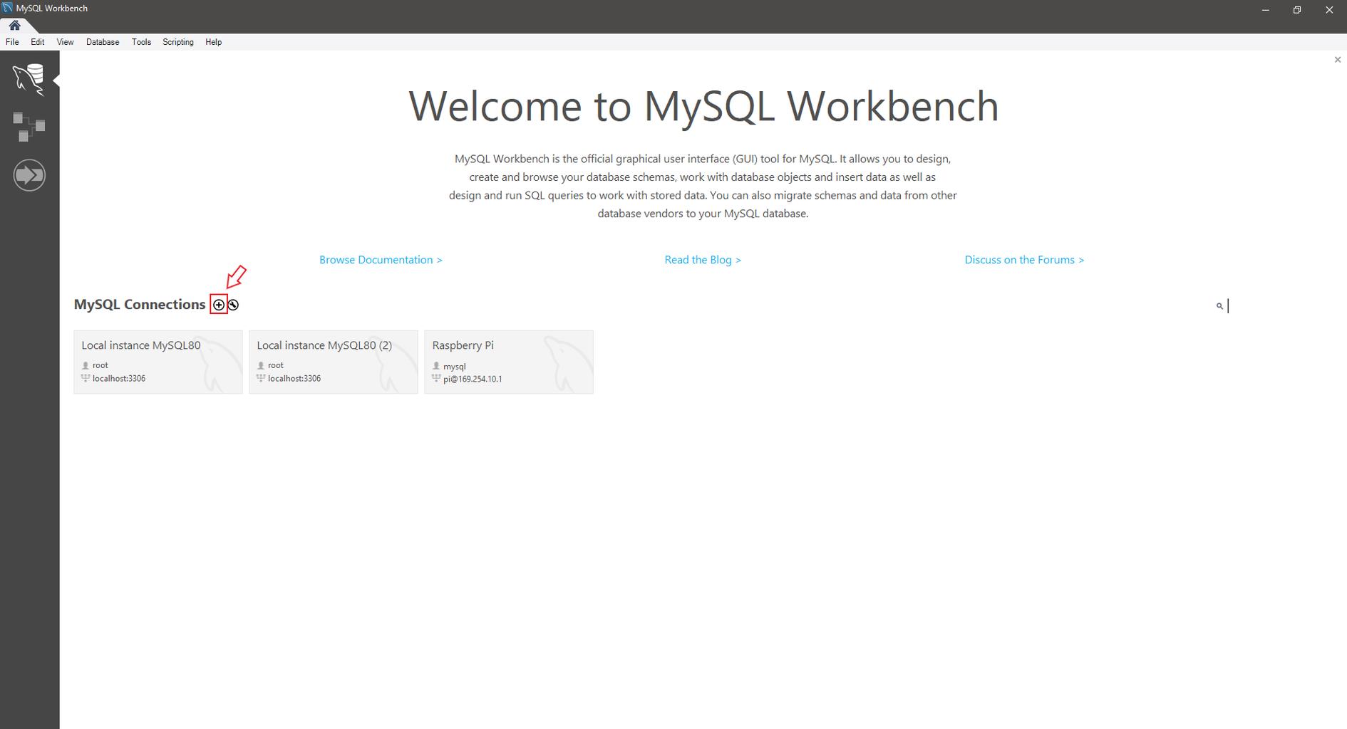 Step 3: Connecting to the MySQL Database, Creating Database