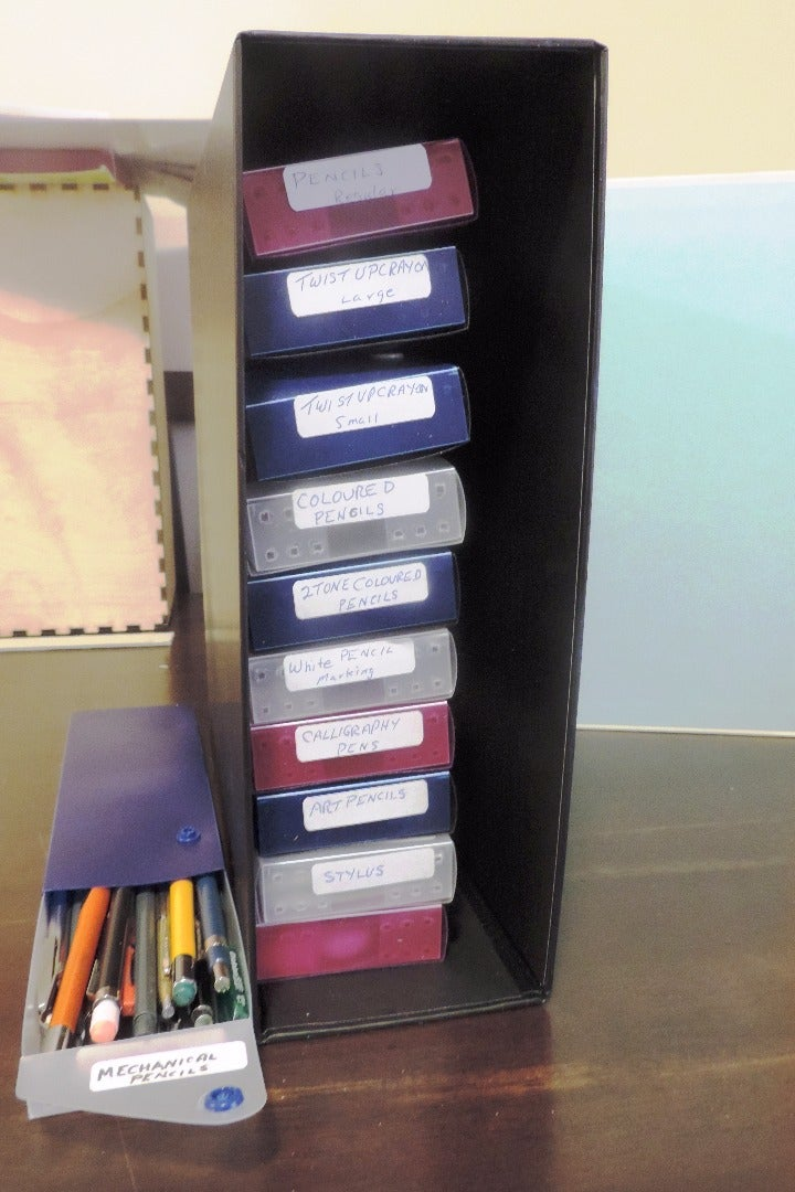 Rack Them and Stack Them - Storage Container for Pens Pencils Etc