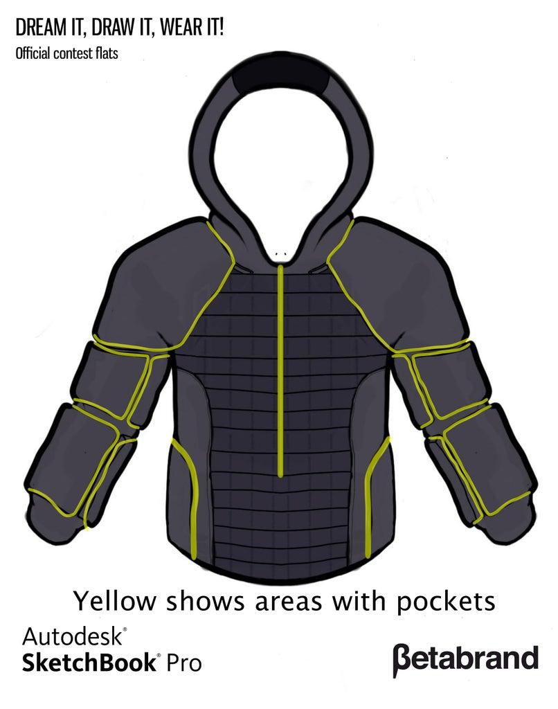 Detailed Description of Hoodie [Zipper Placement]