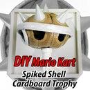 Diy Cardboard Mario Kart Blue Shell Trophy