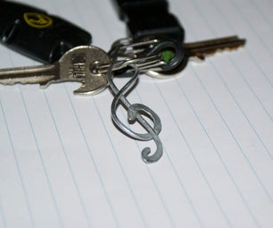 Treble Clef Key Ring