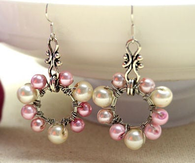 Easy-to-follow Guide on How to Make Wire Wrap Hoop Earrings With Pearls Around