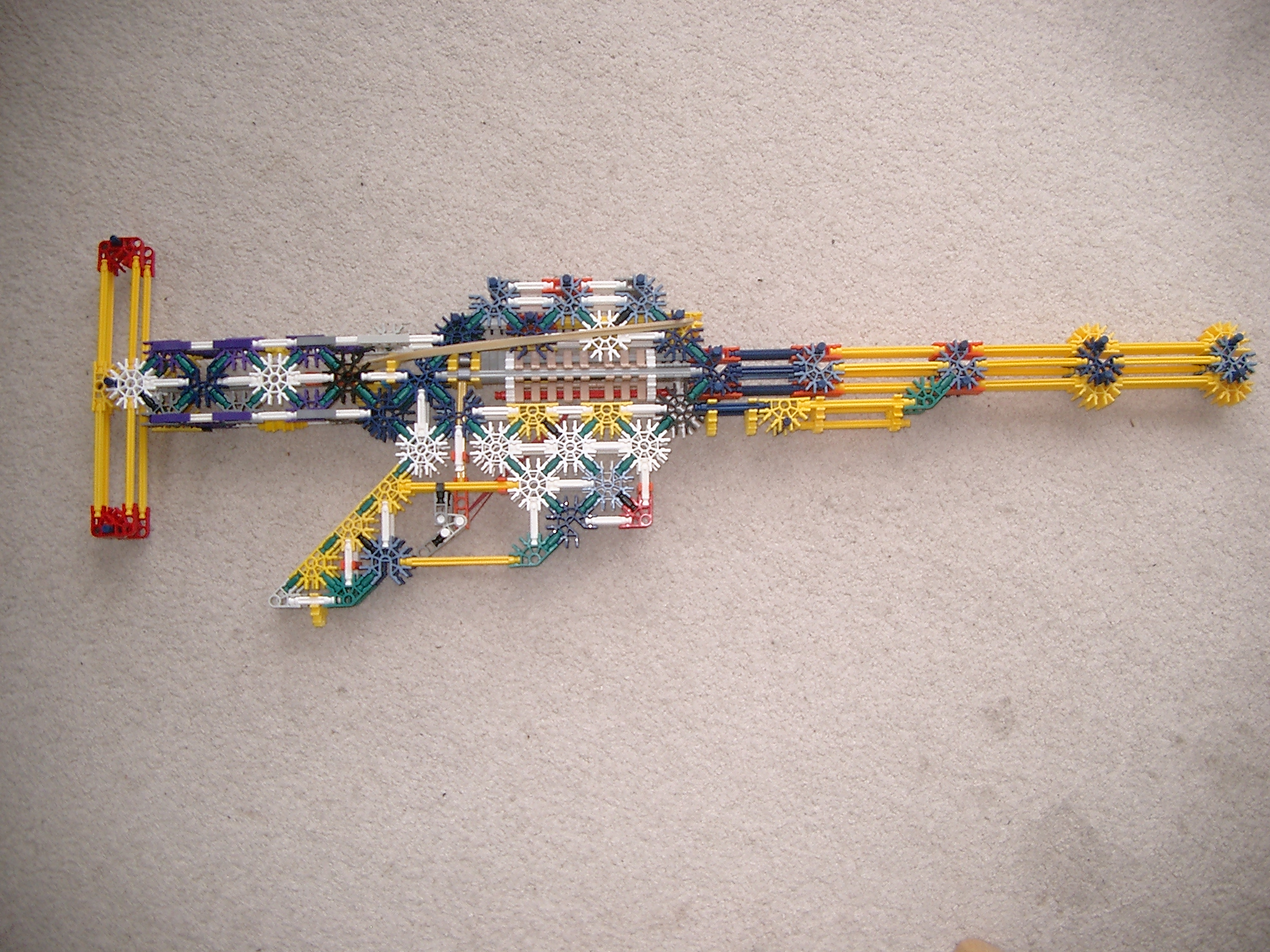 The storm 221 V1.4 Knex high range low accuracy rifle