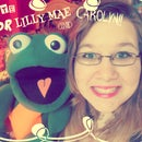 Carolyn and LILLY MAE the frog!!!!