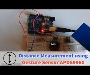 Distance Proximity Measurement With Gesture Sensor APDS9960