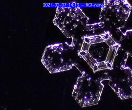 Snow Flake Microscopy With a Raspberry Pi Microscope