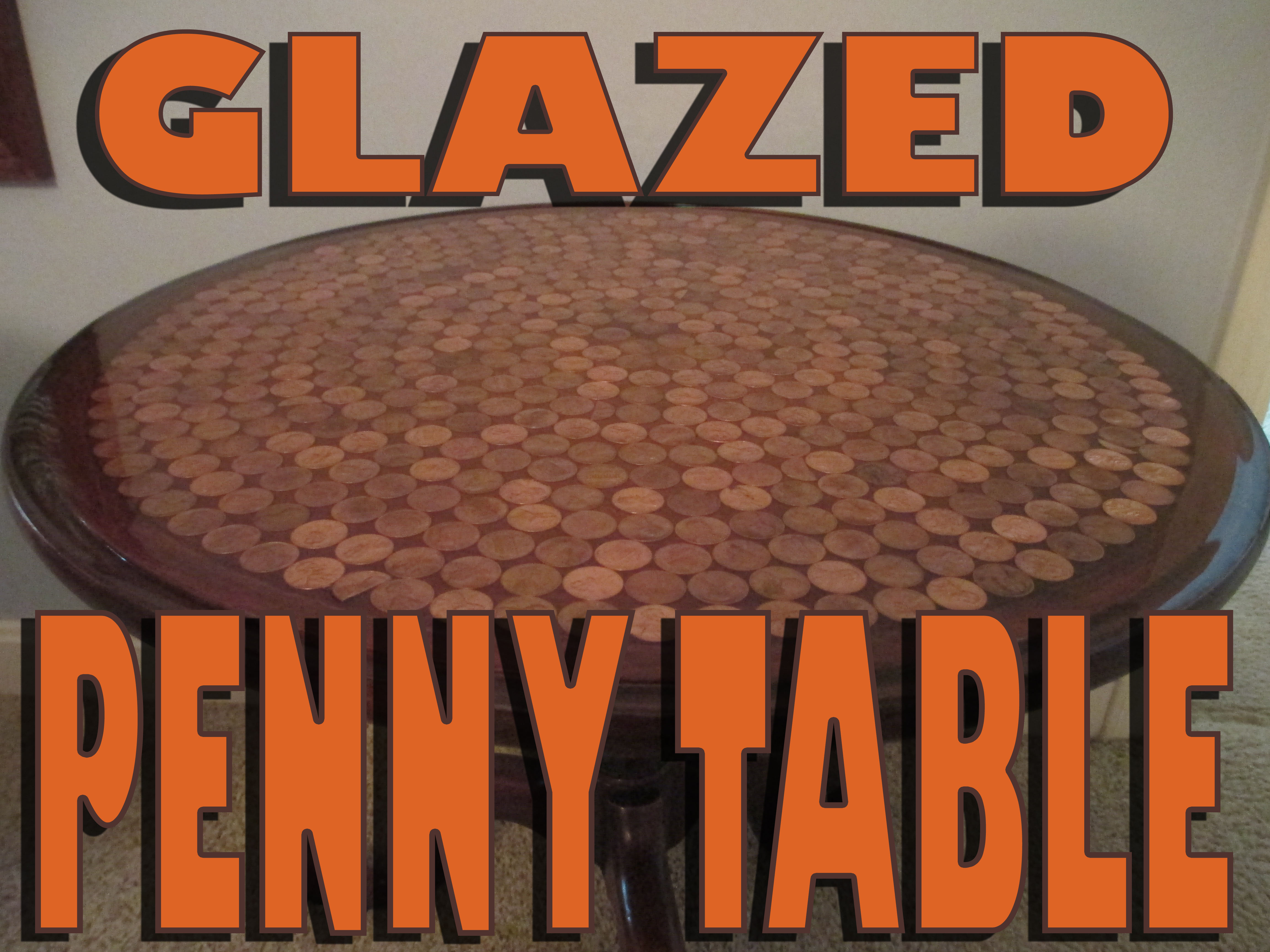 Glazed Penny Table