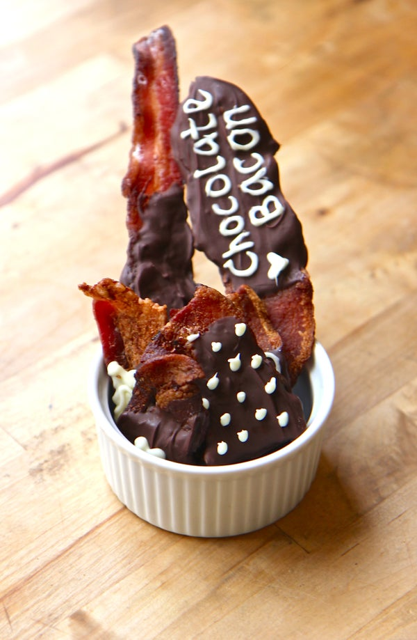 Chocolate Dipped Bacon