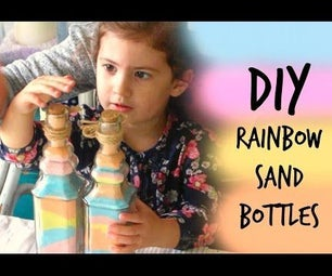 DIY Rainbow Sand Bottle Gift