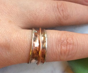 Recycled Copper Spinner Ring