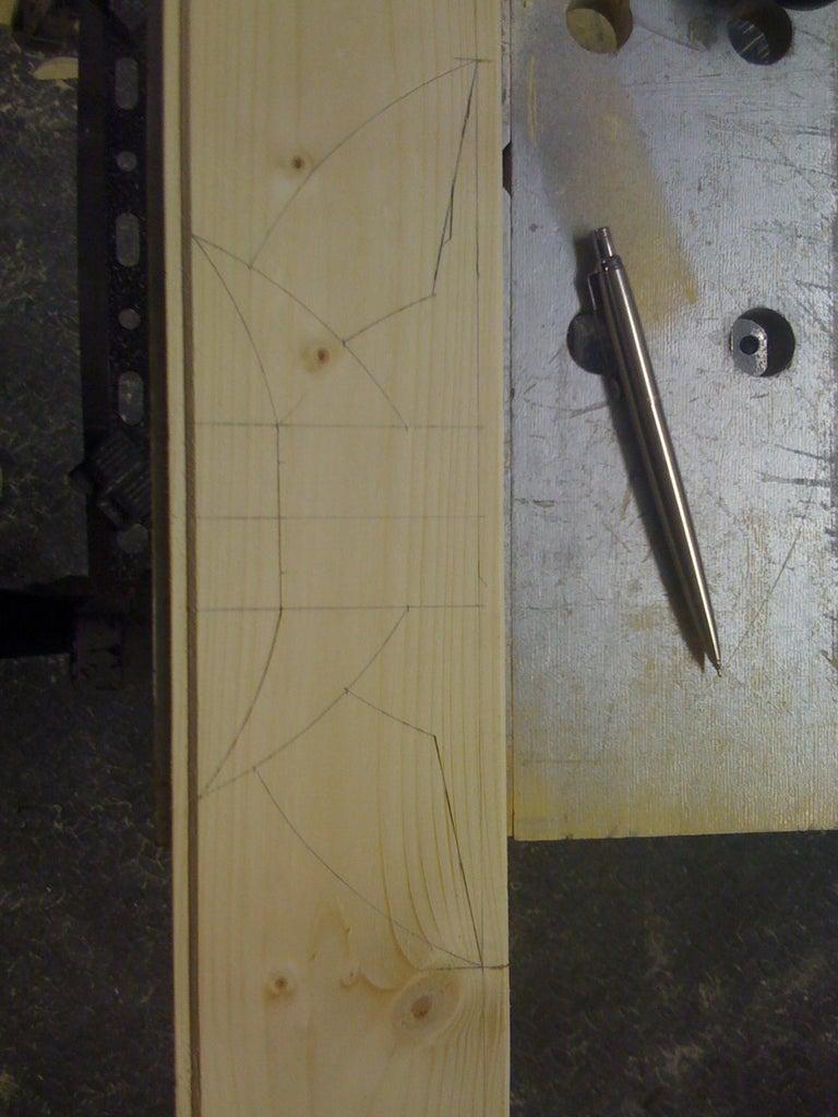 Handle - Laminate Handle and Cut Wings