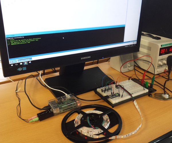 RGB LED Strip Controlled by Voice