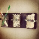 Mason Jar: Hanging Bathroom Organizer