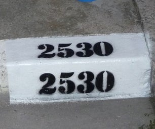 Paint Your House Address on the Curb