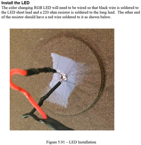 Construction - Install the LED