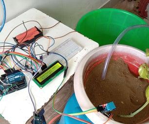 使用Arduino Uno、土壤湿度传感器和湿度传感器的智能灌溉系统