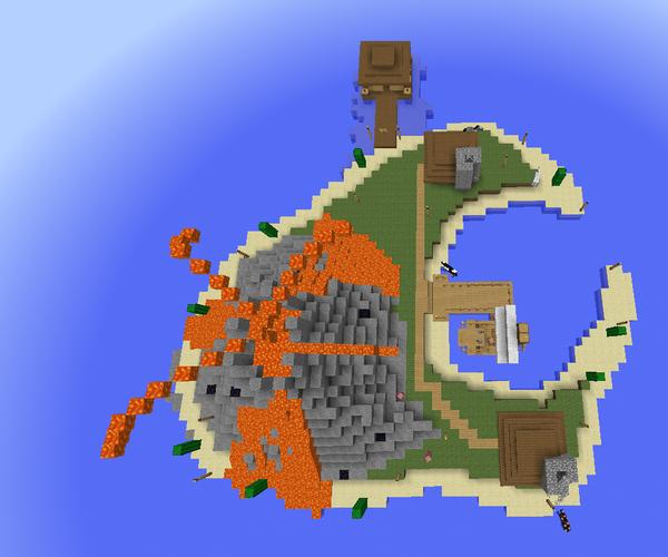 Minecraft Volcano Island