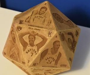 Laser-engraved Icosahedron