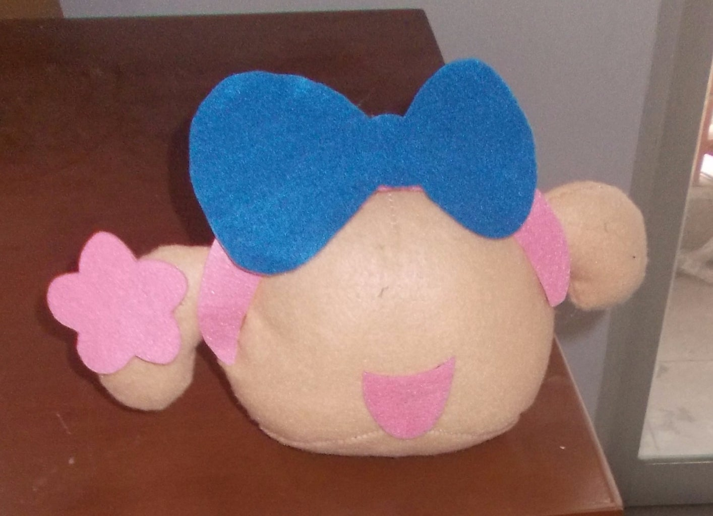 Cut Out the Mouth and Sew It Up Like This Picture.