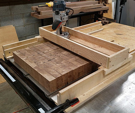 Ho to Make a Router Sled to Flatten Slabs