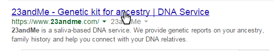 23andMe - Introduction