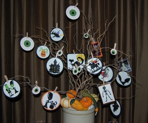 Halloween Tree and Candles