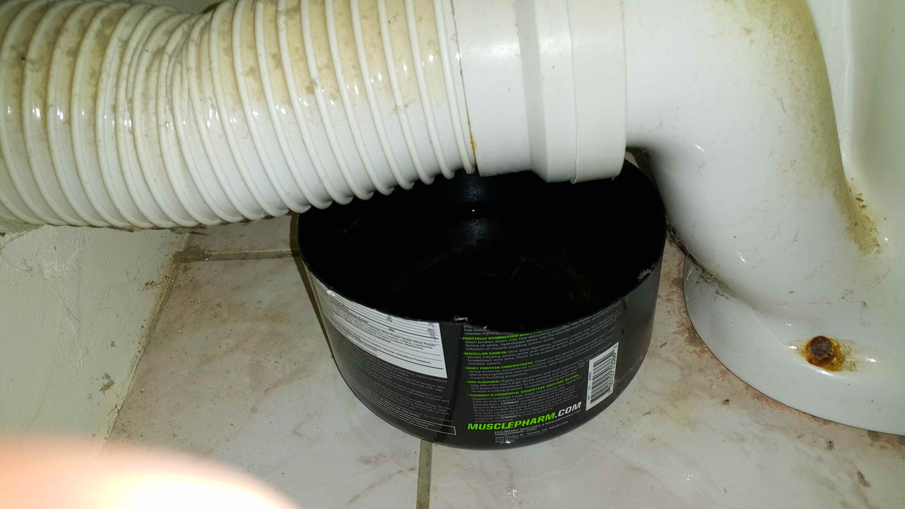 Fixing a Leaking Toilet Discharge.