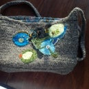 Crochet / felted / beaded Bag
