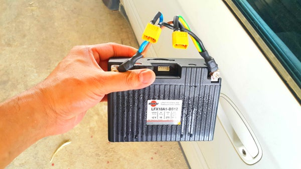 Recharging My Car's Lithium Battery.