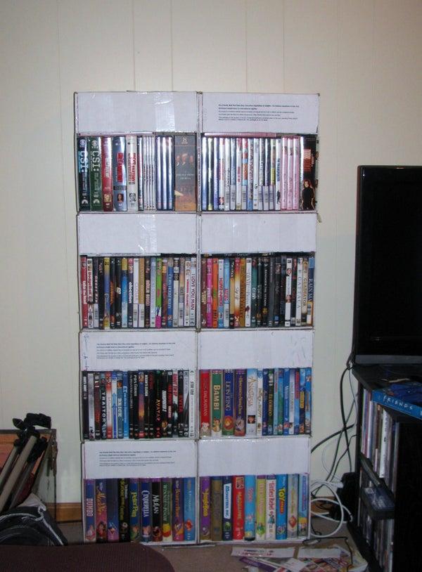 Flat Rate Movie Shelf