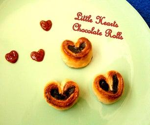 Little Hearts Chocolate Rolls