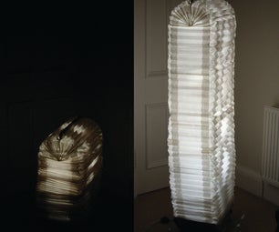 Mechanical Expanding Cardboard Lamp - This Way Up!