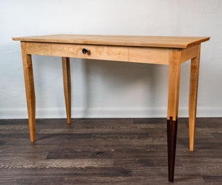 Japanese and Shaker Style Desk With Jyuji Mechigai Tsugi Joint