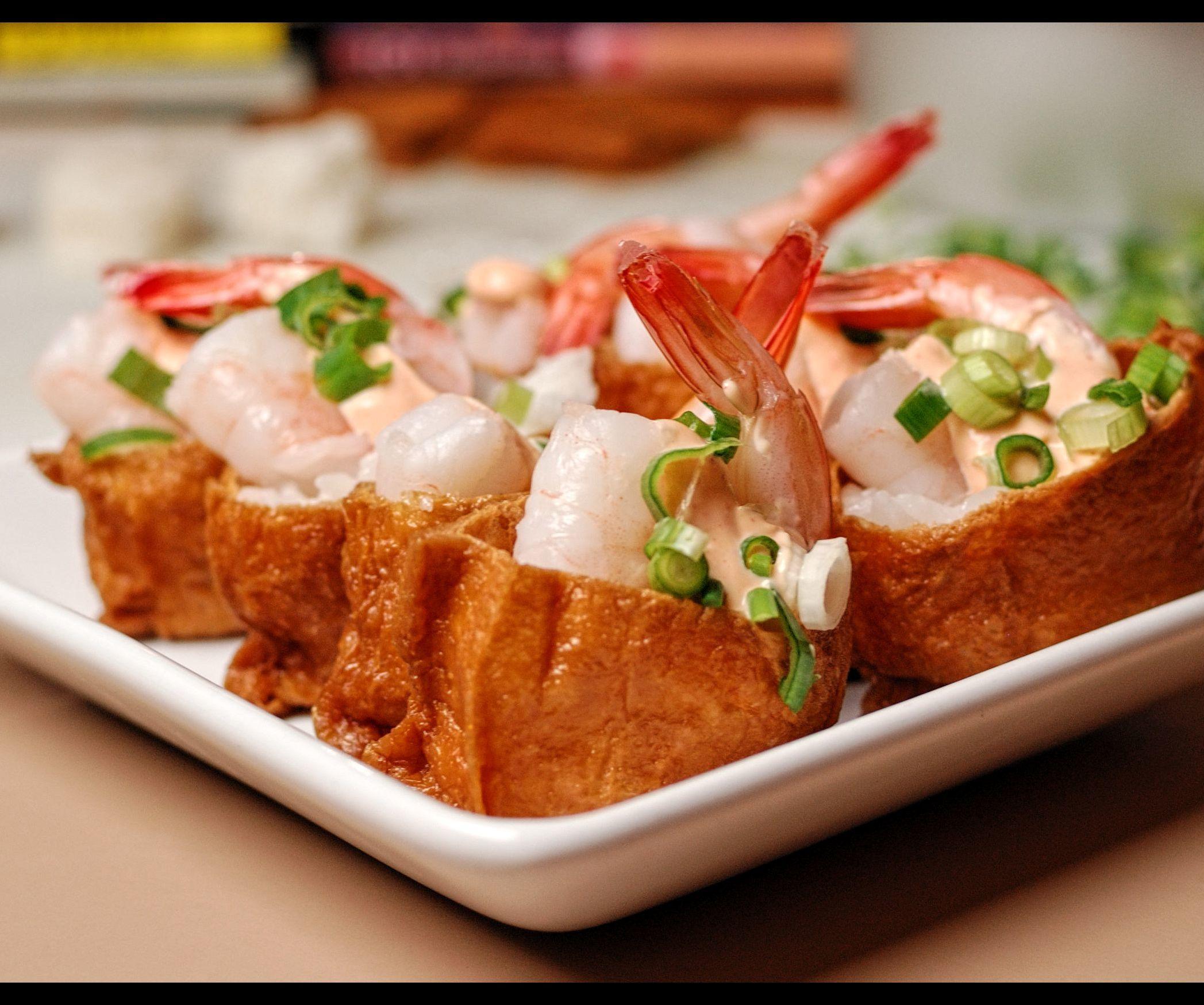 Spicy Shrimp Inari