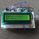 Temperature sensor(LM35) with LCD(JHD162A)
