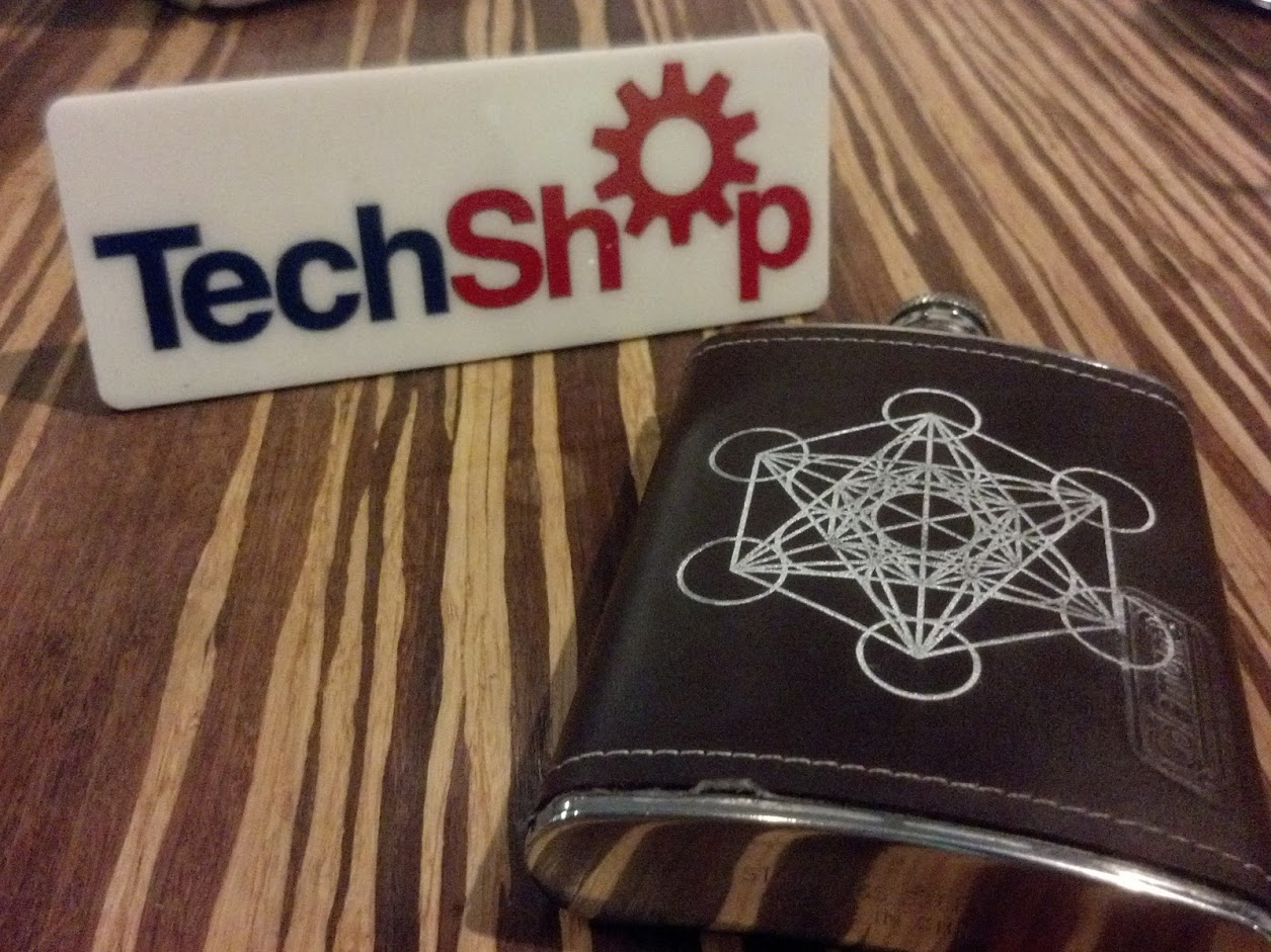 High Contrast Leather Laser Etching