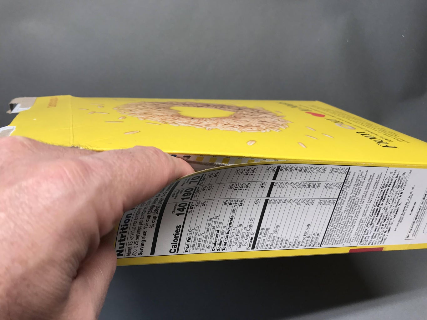 Cut Up the Cereal Box