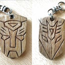 Transformers keychain/ pet collar tag