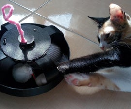 3D Printed Interactive Cat Toy (9V Battery Powered)