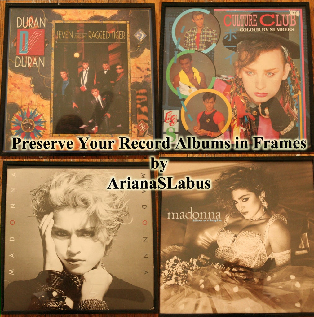 Display Your Record Albums in Picture Frames