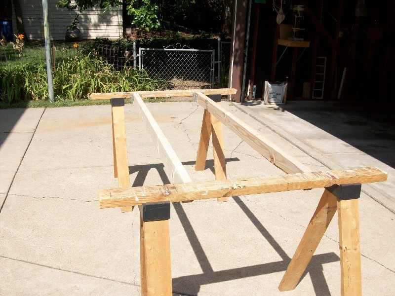 Joist Hangar sawhorse work table