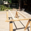 Joist Hangar sawhorse work table