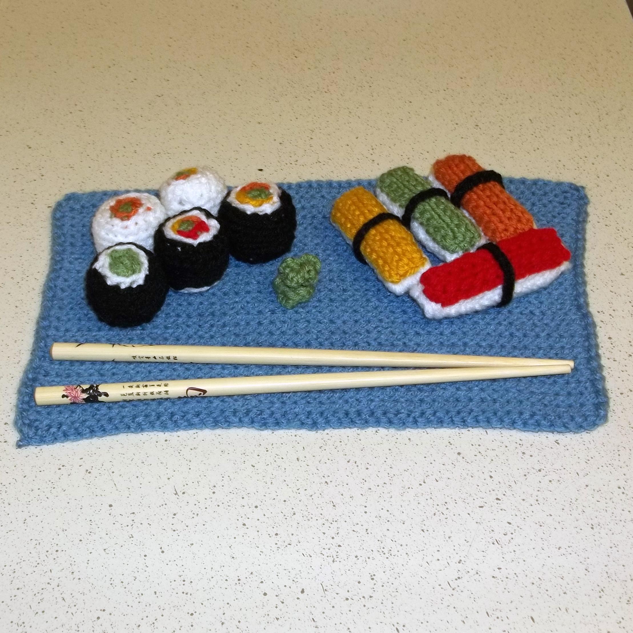 Crochet Sushi Set