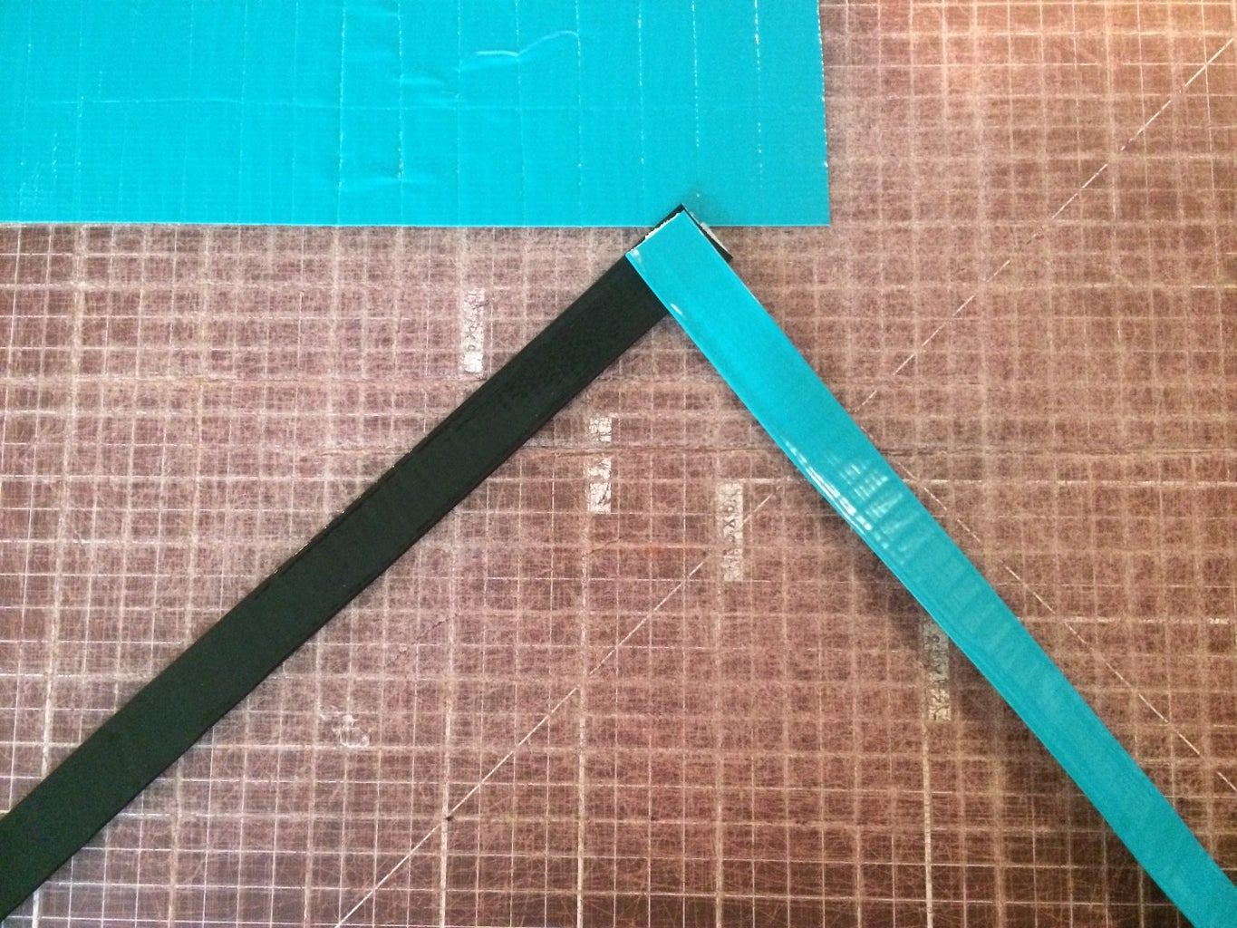 Connecting the Strips of Duct Tape