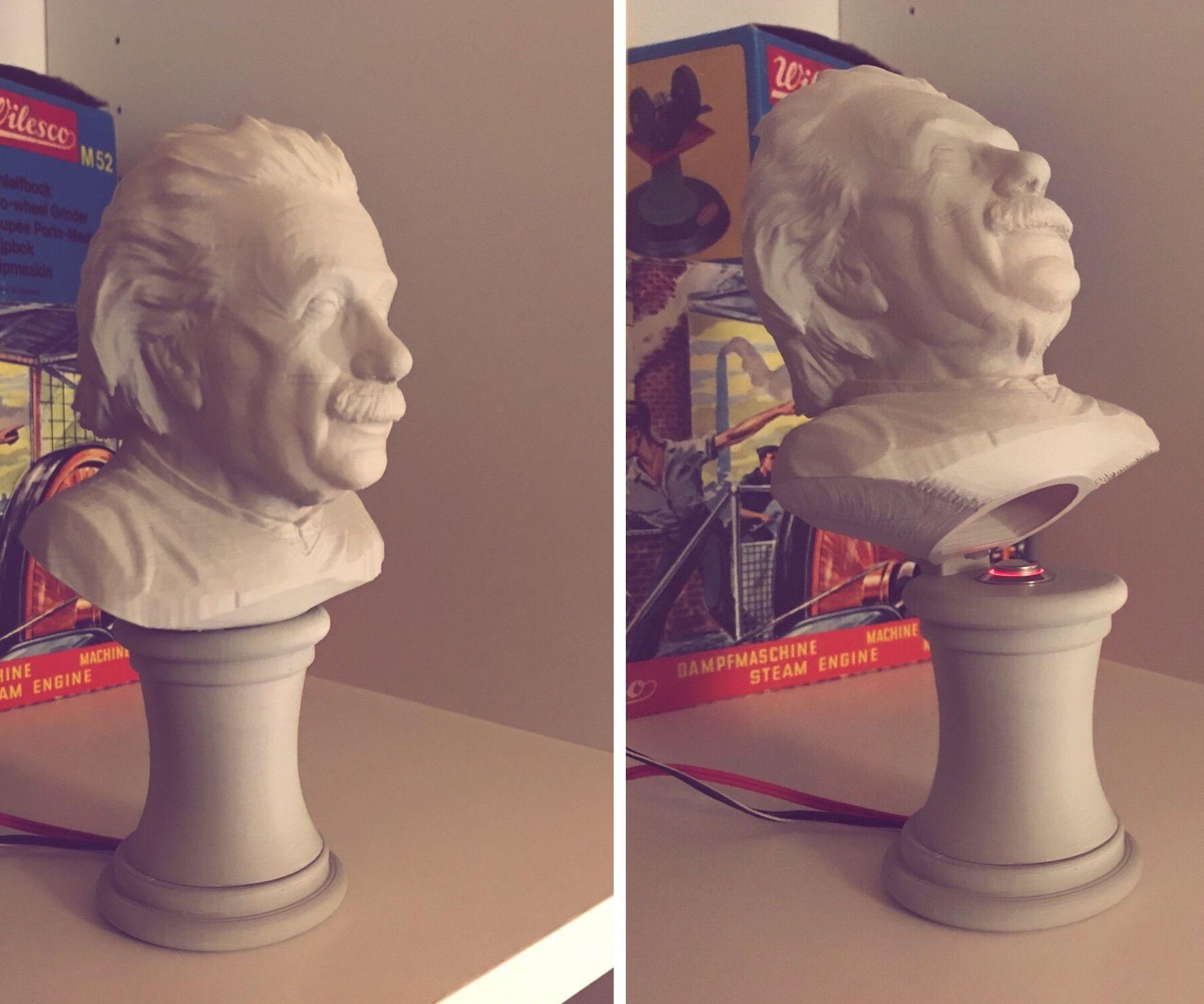 Einstein Bust With Secret Switch